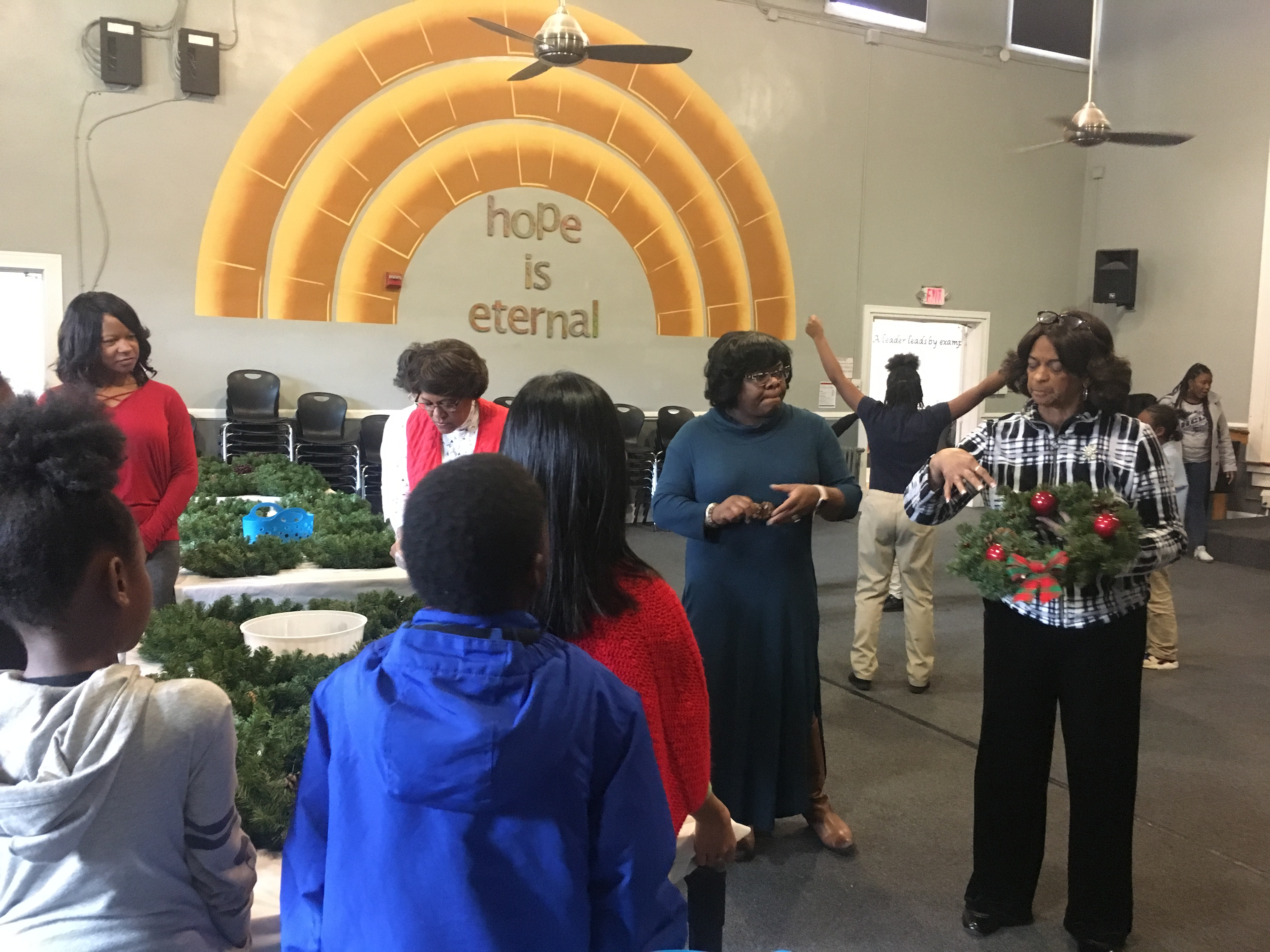 Holiday Craft Event at Hope Charter Leadership Academy