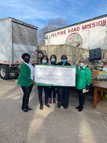 Helping Hand Mission Receives Donation